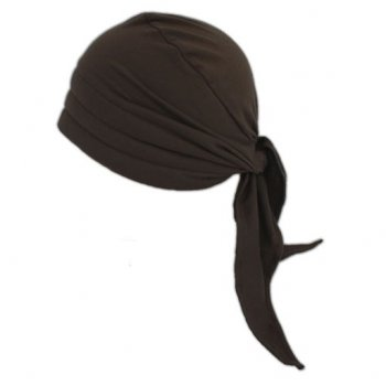 3 Seams Padded Bandana In Brown Lightweight 100% Cotton Jersey
