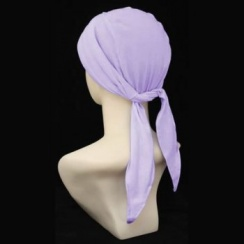 3 Seams Padded Bandana In Lilac Lightweight 100% Cotton Jersey