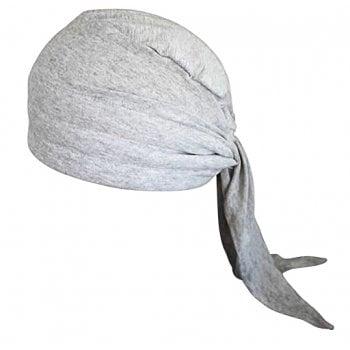 3 Seams Padded Bandana In Marl Grey Lightweight 100% Cotton Jersey