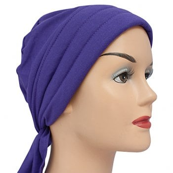 3 Seams Padded Bandana In Purple Lightweight 100% Cotton Jersey