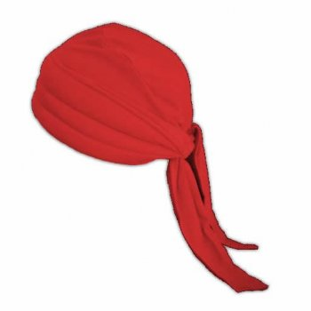 3 Seams Padded Bandana In Red Lightweight 100% Cotton Jersey