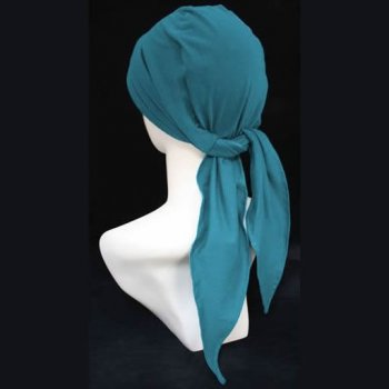 3 Seams Padded Bandana In Teal Lightweight 100% Cotton Jersey