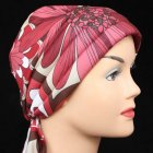 3 Seams Padded Jersey Bandana Reds And Brown Floral