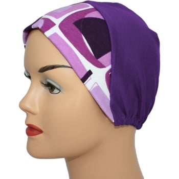 Abstract Lilac Purple With Purple Light Jersey Cap