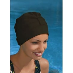Adjustable Turban Swimming Cap Black