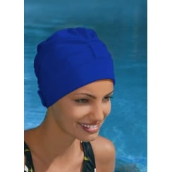 Adjustable Turban Swimming Cap Blue