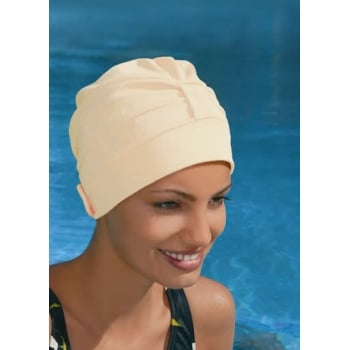Adjustable Turban Swimming Cap Cream