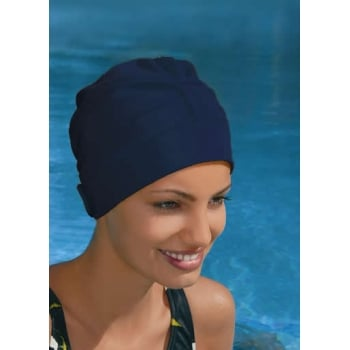 Adjustable Turban Swimming Cap Navy