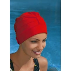 Adjustable Turban Swimming Cap Red