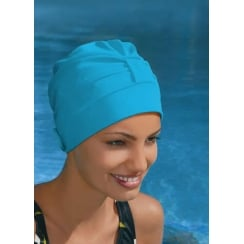 Adjustable Turban Swimming Cap Turquoise