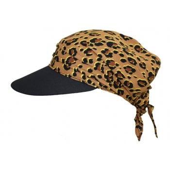 Animal Print with Black Visor Hat