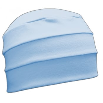 Baby Blue 3 Seam Hat/Turban In 100% Cotton Jersey (Sky)