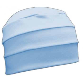 Baby Blue 3 Seam Hat/Turban In 100% Cotton Jersey (Sky)