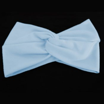 Baby Blue Cotton Jersey Twist Wrap