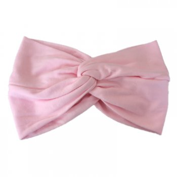 Baby Pink Cotton Jersey Twist Wrap