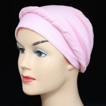 Baby Pink Lightweight 100% Cotton Jersey Tie Scarf