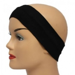 Black 7Cm Wide Headband