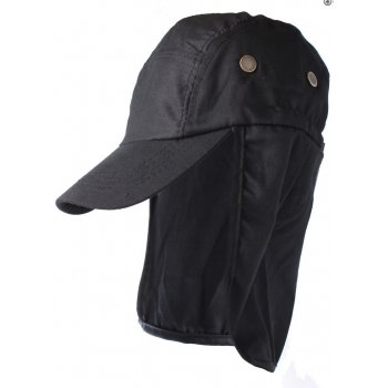 Black Cotton Legionnaires Style Summer Visor Hat
