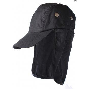 Black Cotton Legionnaires Style Summer Visor Hat
