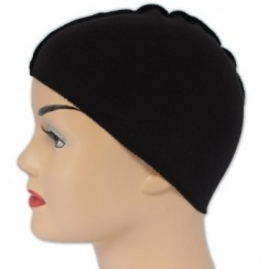 Black Cotton Wig Liner