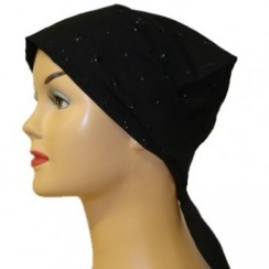 Black Eyelet Head Tie Scarf