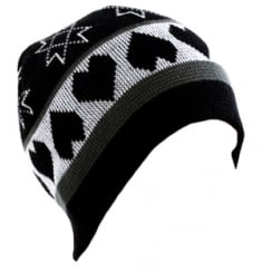 Black Hearts Beanie Hat