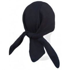 Black Petite/Child Fleece Tie Bandana
