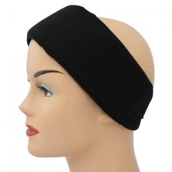 Black Wide Padded Headband With Velcro