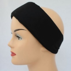 Black Wide Padded Headband With Velcro