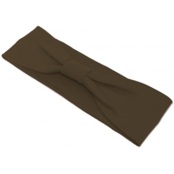 Brown Cosy Headband 100% Cotton Jersey