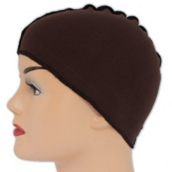 Brown Cotton Wig Liner