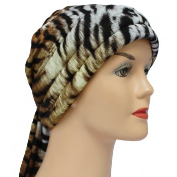 3 Seams Padded Jersey Bandana Brown Leopard