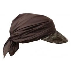 Brown Straw Visor Hat By Seeberger