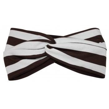 Brown/White Striped Twist Wrap