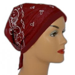 Burgundy Jersey Cap Bandana 100% Cotton (Vino Red)