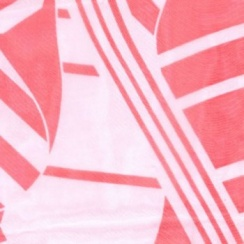 Chiffon Wrap Scarf Abstract Coral