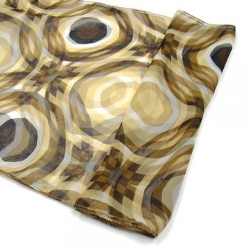 Chiffon Wrap Scarf Abstract In Shades Of Brown
