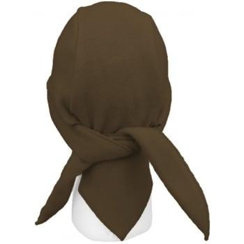 Chocolate Brown Fleece Hi-Fashion Tie Bandana