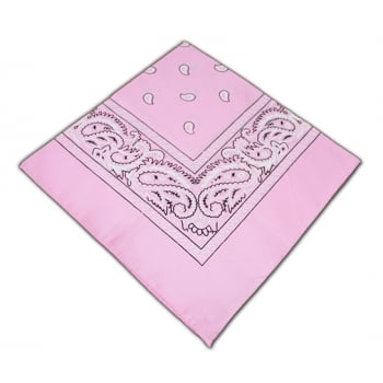 Classic Baby Pink Paisley Bandana
