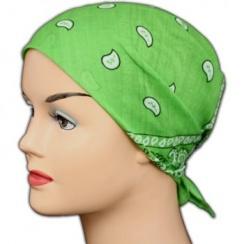 Classic Lime Green Paisley Bandana