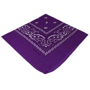 Classic Purple Paisley Bandana