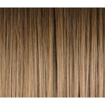 Clip In Side Swept Fringe - 6 Medium Brown/Caramel