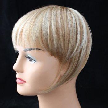 Clip In Straight Fringe - 10P613 Caramel Brown/Blonde