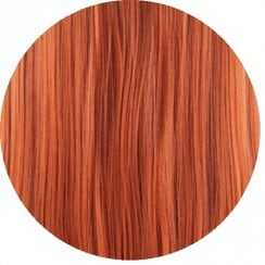 Clip In Straight Fringe - R350 Copper Red
