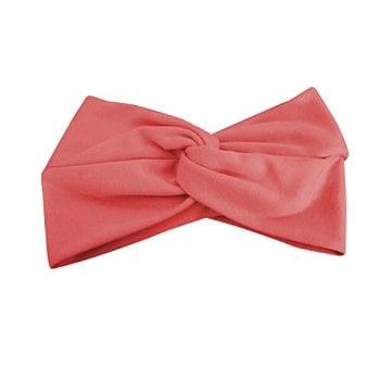 Coral Cotton Jersey Twist Wrap