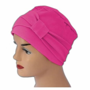 Cosy Hat With Band Fuschia Pink 100% Cotton Jersey (2 Pieces)