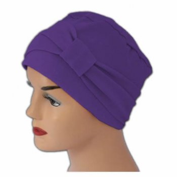 Cosy Hat With Band Purple 100% Cotton Jersey (2 Pieces)
