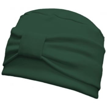 Cosy Hat With Band Green 100% Cotton Jersey (2 Pieces)