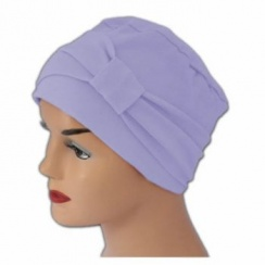 Cosy Hat With Band Lilac 100% Cotton Jersey (2 Pieces)