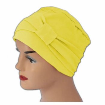 Cosy Hat With Band Yellow 100% Cotton Jersey (2 Pieces)